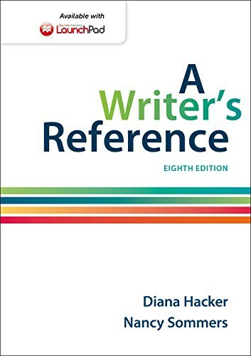 By Diana Hacker A Writer's Reference (Eighth Edition) [Spiral-bound]