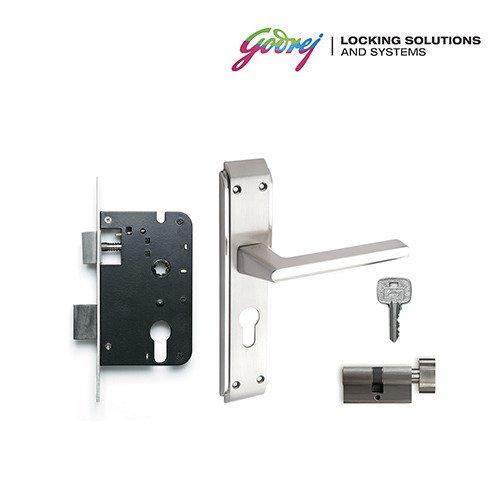 types of door knob locks. godrej neh 05 1ck 20cm zinc alloy door handle set with lock body and cylinder types of knob locks