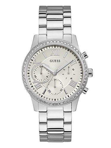 GUESS-Womens-Quartz-Stainless-Steel-Casual-Watch-ColorSilver-Toned-Model-U1069L1
