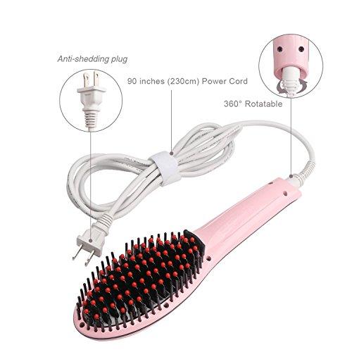 photo Wallpaper of PrettyFirst-PrettyFirst Hair Straightener Brush,Massager Straightening Irons-Pink