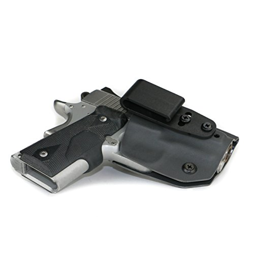 FoxX Holsters Deluxe Trapp Kydex IWB Holster - Kimber 1911 Ultra Carry II, Ultra TLE II Our Smallest Inside Waistband Holster Adjustable Cant & Retention, Concealed Carry Holster (Gunmetal Grey)