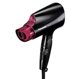 panasonic compact hair dryer - 41tZ 2BEWLx3L - Panasonic Compact Hair Dryer with Nanoe Technology for Smoother, Shinier Hair, includes Quick-Dry Nozzle and Folding Handle for Travel, EH-NA27-K