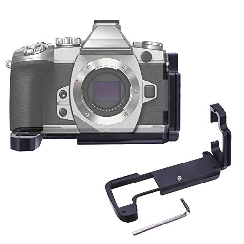 Quick Release L Type Plate Aluminum Alloy Vertical Vertical Bracket with Hand Grip for Olympu O-MD E-M1 II OMD EM1 Mark II ()