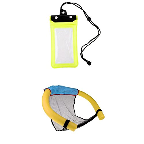 MagiDeal Universal Waterproof Phone Case Anti-Water Pouch Dry Bag Cover Pouch Holder with Swimming Pool Floating Chair by Unknown
