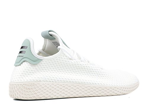 Adidas Origina PW Tennis HU Sneaker Unisex Pharrell Williams (44 EU - 9.5UK, Blanco/Verde)