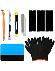 CARTINTS Complete Vehicle Vinyl Wrap Tools Kit Window Tint Tools Kit for Car Wraps with Yellow Micro Squeegee for Corner Full Wrap, Felt Squeegee, Vinyl Knife, Vinyl Wrap Gloves
