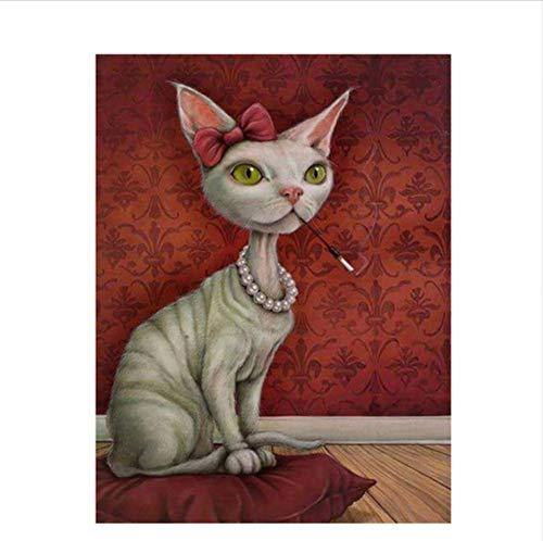 CZYYOU DIY Digital Malen Nach Nach Nach Zahlen Haarlose Katze Ölgemälde Wandbild Kits Färbung Wandkunst Bild Geschenk - Mit Rahmen - 40x50cm B07PMRHHC4 | Fuxin  dfdd18