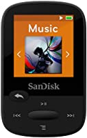SanDisk 8GB Clip Sport MP3 Player, Black - LCD Screen and FM Radio - SDMX24-008G-G46K
