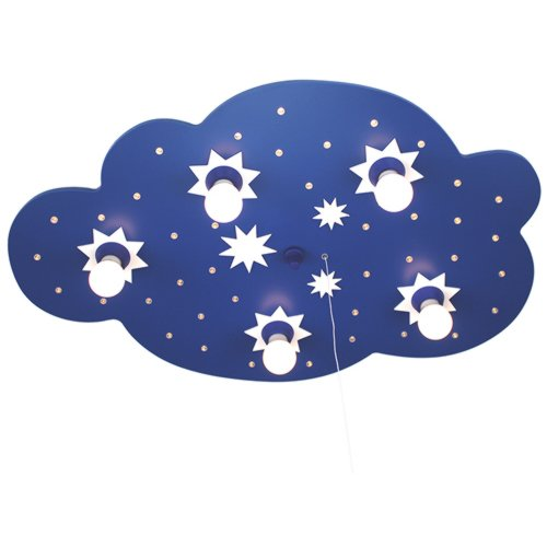 dunkelblau 124215 Elobra Deckenleuchte Sternenwolke