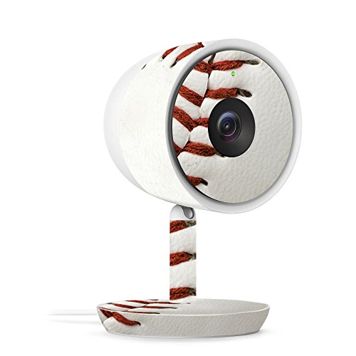 MightySkins Skin for Nest Cam IQ Indoor Security Camera - Baseball | Protective, Durable, and Unique Vinyl Decal wrap Cover | Easy to Apply, Remove, and Change Styles | Made in The USA
