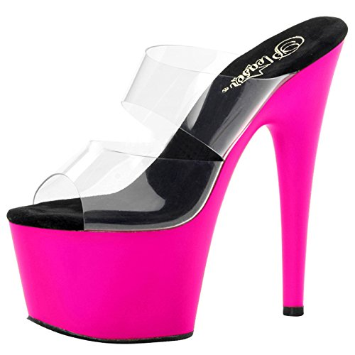 Pleaser Day and Night Plateau Pantoletten ADORE-702UV