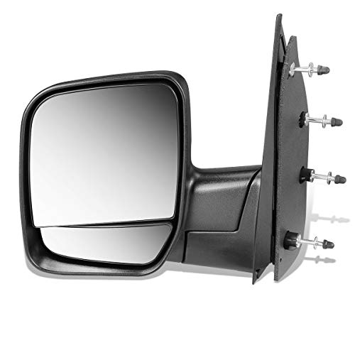 DNA MOTORING OEM-MR-FO1320253 FO1320253 OE Style Manual Driver/Left Side View Door Mirror for Ford E150 E250 E350 E450 02-07