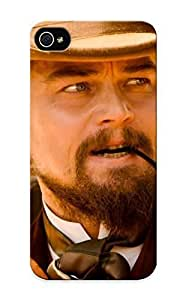 Ideal Summerlemond Case Cover For Iphone 5/5s(django Unchained Leonardo Dicaprio Calvin Candie Quentin Tarantino Western Movies Actors Males Men Smoke Face Hat ), Protective Stylish Case
