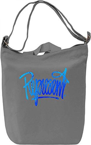 Represent Borsa Giornaliera Canvas Canvas Day Bag| 100% Premium Cotton Canvas| DTG Printing|
