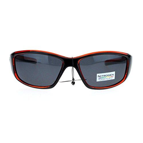 Nitrogen Polarized Mens Classic Oval Plastic Warp Sport Sunglasses Orange