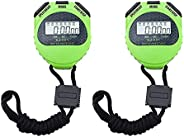 Digital Stopwatch Timer for Sport,Stop Watch with Countdown Timer Alarm , Large Screen Display for Coach Refer