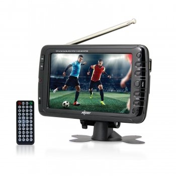 Axess 7-Inch, LCD TV with ATSC Tuner, Rechargeable Battery and USB/SD Inputs, TV1703-7 (Small Tuner)