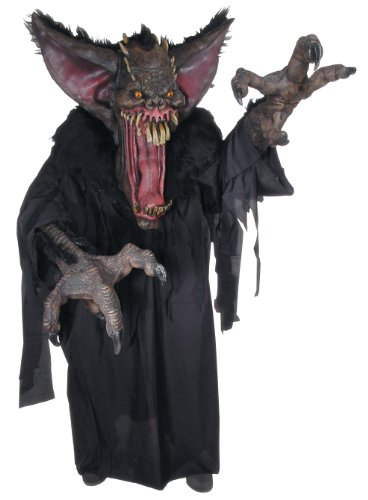 Scary Costumes - Gruesome Bat Creature Reacher Deluxe Oversized Mask and Costume