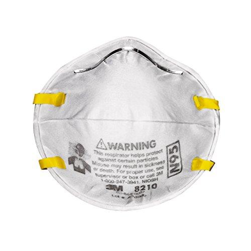 3M 8210PP20-DC Paint Sanding Dust Particulate Respirators, N95, 20-Pack