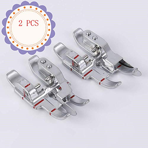 YaDu Pack of Pfaff Stitch-in-The-Ditch Presser Foot and Pfaff Sewing Machine Snap-on 1/4in. Presser Foot w/Edge Guide