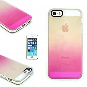 SOL TPU+PC Two in One Transparent/Rose Gradient Back Cover Case for iPhone 5/5S