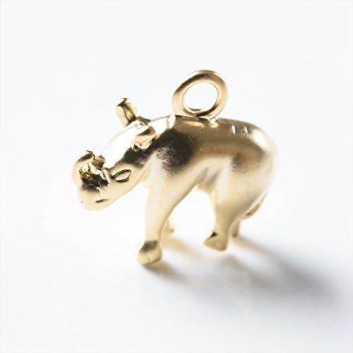 紗や工房 メタルチャーム サイ 10mm ゴールド 1個 1ヶ ハンドメイド アクセサリーパーツ
