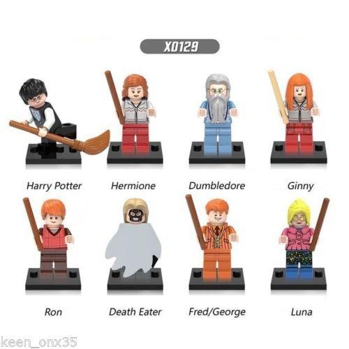 Monster Ball Tour Costumes (8PCS set Minifigures Hermione Voldemort bbkub)