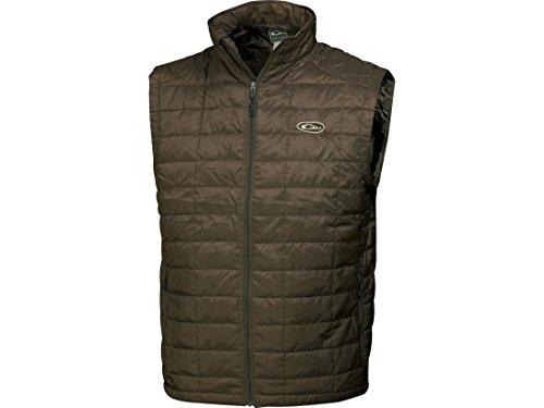 Drake Waterfowl Men's Synthetic Down Vest (Brown, XL)