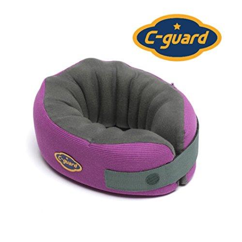 New 2017 C-guard Premium Neck Cushion Neck Support Brace Pillow Posture Corrector - Violet (L Neck Over 15