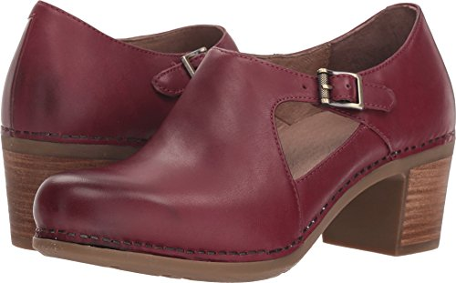 - Dansko Women's Hollie Wine Burnished Calf 42 Regular EU Regular