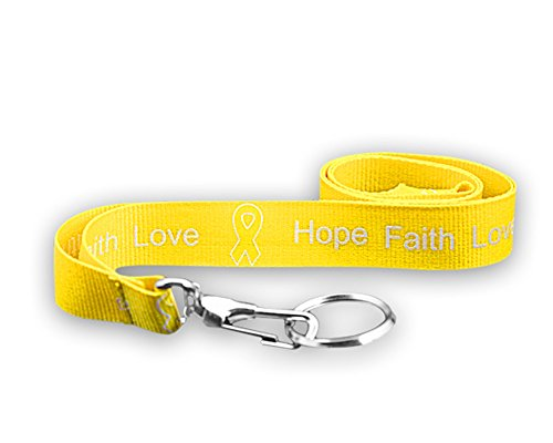 (Yellow Ribbon Lanyard - Hope, Faith, Love (Retail))