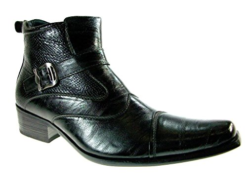 mens dress ankle boots buckle - 5