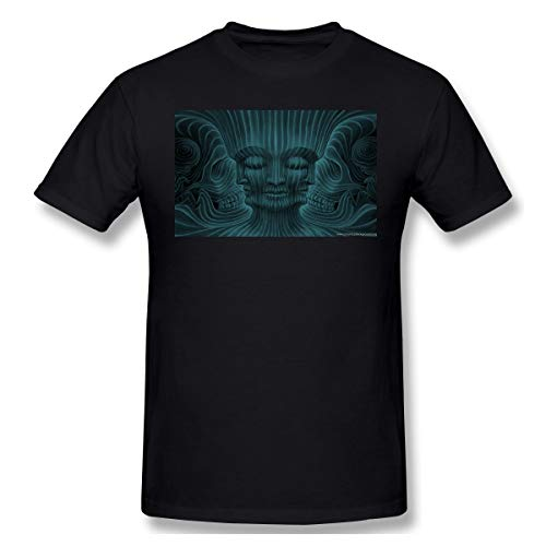 Grillianc Mens Tool-Band-Wallpapers Soft Black T Shirt 5XL with Short Sleeve