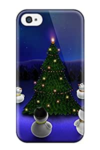 Rugged Skin Case Cover For Iphone 4/4s- Eco-friendly Packaging(humor Cartoon)