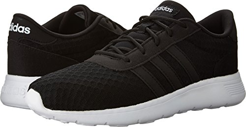 adidas Women's Lite Racer W Sneaker, Black/White, 8.5 M US