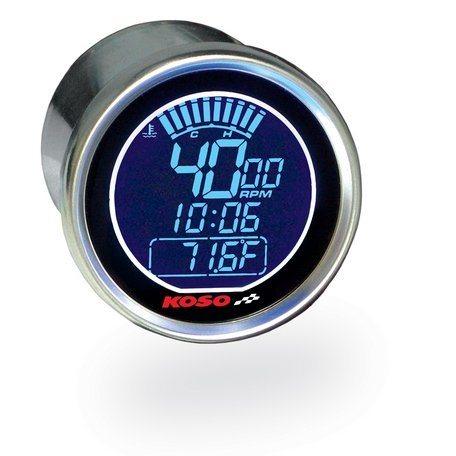 Koso DL Universal Electronic Tachometer Stainless