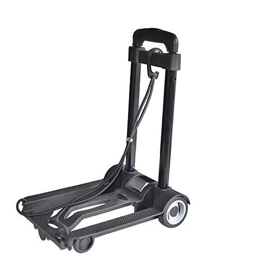 Luggage Cart Folding Hand Truck, 40 Kg Heavy Duty 4-Wheel Solid Construction Utility Cart Compact And Lightweight For Luggage, Personal, Travel, Auto, Moving And Office Use - Portable Fold Up Dolly,Lu by DW&H (Image #6)