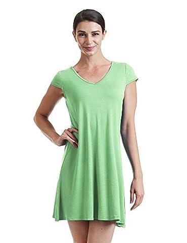 CTC WDR1068 Womens V Neck Cap Sleeve T Shirt Dress L MINT - Together Short Sleeve Dress