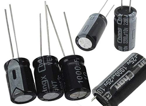 LCD/Plasma TV Capacitor Repair Kit, Replacement Parts: 1000uF 10V (3 Pieces), 1000uF 25V (2 Pieces), 2200uF 10V (2 Pieces) and 220uF 25V (3 Pieces) (Highly Recommended) ()