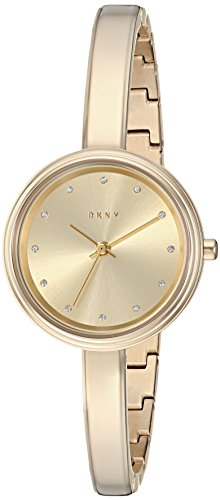 DKNY Women's 'Murray' Quartz and Stainless-Steel-Plated Casual Watch, Color:Gold-Toned (Model: NY2599)