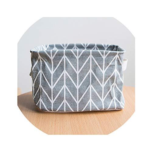 (Foldable 5 Colors Storage Bin Closet Box Container Organizer Cloth Case Basket Cotton Desktop Storage Basket with Carrier)