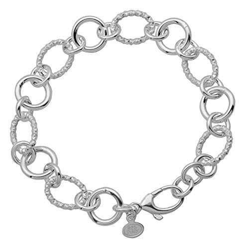 Circle and Twisted Oval Chain Bracelet, 8