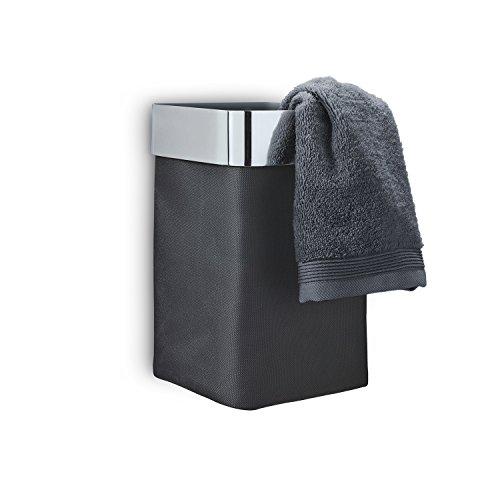 Blomus Towel Basket, Black, Polished 68976 (Blomus Towel Rack)