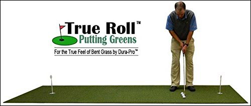 "4' x 15' True Roll Bent Grass 2 Cup Putting Green Training DVD & Impact Decals. Putting Greens with the ""True Feel of Bent Grass"". Practice & Improve Your Golf Score Read Description Below."
