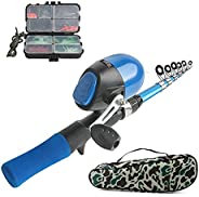 Kids Fishing Pole Full Kit 4.79FT/146CM Telescopic Fishing Rod Reel Combos Youth Fishing Set with Fishing Rod+