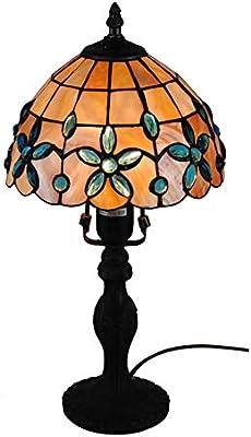 Lámparas de mesa estilo Tiffany, estilo moderno, flor de color ...