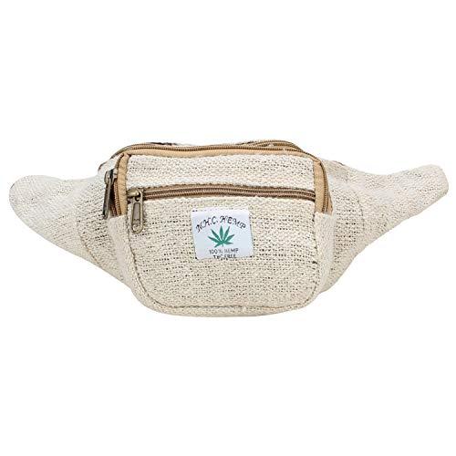 - Indain Fanny Pack,Travel Pocket Waist Bag and Money Belt Bag (Off white)