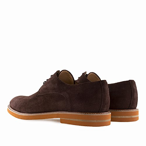 Hommes 47 Oxford au du 6188 pour Cuir Andres Spain in Marron 50 Grandes Machado Pointures Style Made Chaussures w4II0qP