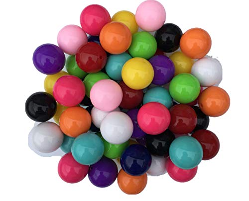 20mm Solid Beads 60 Count Mixed Starter Pack Chunky Bubble Gum Beads