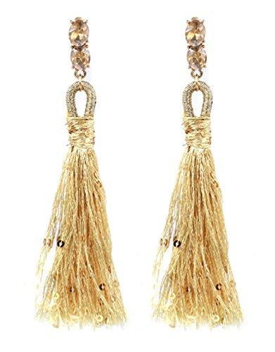 AIEDE Womens Beaded Tassel Earrings (Sequins (Sequin Beaded Earrings)